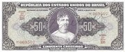 50 Cruzeiros (1st edition; 2nd print; Autographed) – obverse