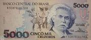5 000 Cruzeiros (3rd edition) – obverse
