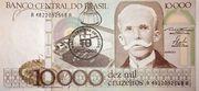 10 Cruzados (overprint on 10 000 Cruzeiros i.e. P# 203) -  obverse