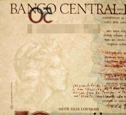 50 Cruzeiros (3rd edition; overprint on 50 Cruzados Novos i.e. P# 219) -  obverse