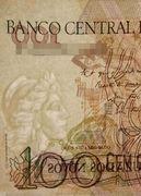 100 Cruzeiros (3rd edition; overprint on 100 Cruzados Novos i.e. P# 220) -  obverse