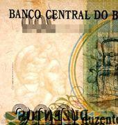 200 Cruzeiros (3rd edition; overprint on 200 Cruzados Novos i.e. P# 221) -  obverse