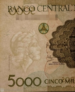 5 000 Cruzeiros (3rd edition; Provisional issue) -  obverse