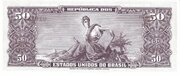 50 Cruzeiros (1st edition; 2nd print; Valor Legal) -  reverse