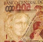 500 Cruzeiros Reais (overprint on 500 000 Cruzeiros i.e. P# 236) -  obverse