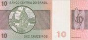 10 Cruzeiros (2nd edition; 1st family) – reverse