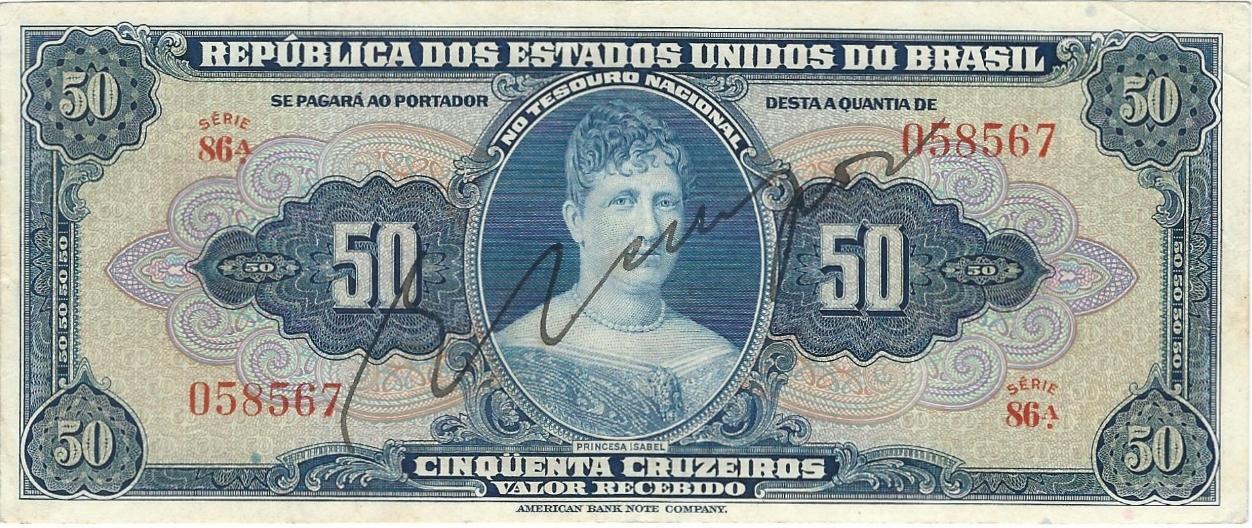 1958 BRAZIL 1 CRUZEIRO ND P150d UNC