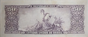50 Cruzeiros (1st edition; 2nd print; Valor Recebido) -  reverse