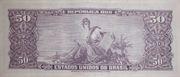 5 Centavos (overprint on 50 Cruzeiros i.e. P# 179) -  reverse