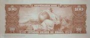 100 Cruzeiros (1st edition; 1st print; Valor Legal) – reverse