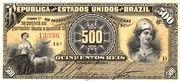 500 Réis (Republic; 3rd print) – obverse