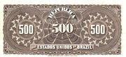 500 Réis (Republic; 3rd print) – reverse