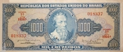 1 000 Cruzeiros (1st edition; 1st print; Valor Legal) -  obverse