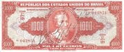 1 000 Cruzeiros (1st edition; 2nd print; Autographed) -  obverse