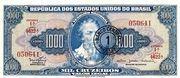 1 Cruzeiro Novo (overprint on 1 000 Cruzeiros i.e. P# 173) -  obverse