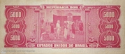 5 000 Cruzeiros (1st edition; 1st print) -  reverse