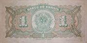 1 Cruzeiro (reuse of 1 Mil Réis i.e. P# 110B) -  reverse