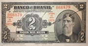 2 Mil Réis (Banco do Brasil; 1st print) – obverse