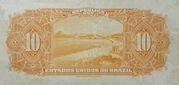 10 Mil Réis (Thesouro Nacional; 14th print) – reverse