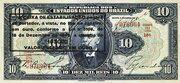 10 Mil Réis (overprint on 10 Mil Réis i.e. P# 39) -  obverse