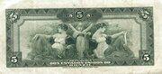 5 Mil Réis (Thesouro Nacional; 14th print) – reverse