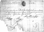 Diamond production payment (handwritten) – obverse