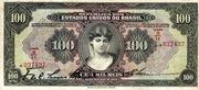 100 Mil Réis (Caixa de Estabilização; 1st print) -  obverse