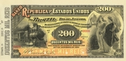 200 Mil Réis (Banco da República dos Estados Unidos do Brazil; 1st print) – obverse