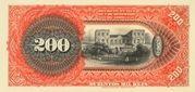 200 Mil Réis (Banco da República dos Estados Unidos do Brazil; 1st print) – reverse