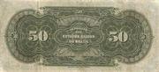 50 Mil Réis (Thesouro Nacional; 16th print) -  reverse