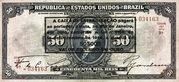 50 Mil Réis (overprint on 50 Mil Réis i.e. P# 58) -  obverse