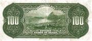 100 Mil Réis (Thesouro Nacional; 16th print) -  reverse