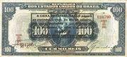 100 Mil Réis (overprint on 100 Mil Réis i.e. P# 70) -  obverse