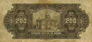 200 Mil Réis (Thesouro Nacional; 16th print) -  reverse