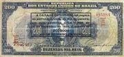 200 Mil Réis (overprint on 200 Mil Réis i.e. P# 81) -  obverse