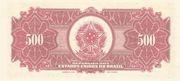 500 Mil Réis (overprint on 500 Mil Réis i.e. P# 91) -  reverse