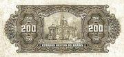 200 Cruzeiros (overprint on 200 Mil Réis i.e. P# 81) -  reverse