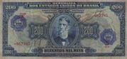 200 Cruzeiros (overprint on 200 Mil Réis i.e. P# 81) -  obverse