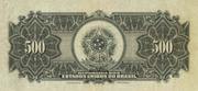 500 Mil Réis (Thesouro Nacional; 15th print) -  reverse