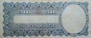 50 Mil Réis (Thesouro Nacional; 13th print) -  reverse
