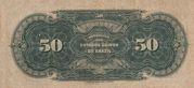 50 Mil Réis (Thesouro Nacional; 14th print) -  reverse