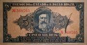 5 Mil Réis (1932 Revolution Bonus; 1st print) -  obverse
