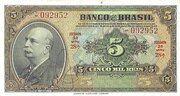 5 Mil Réis (4th Banco do Brasil; 2nd print) – obverse