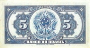 5 Mil Réis (4th Banco do Brasil; 2nd print) – reverse