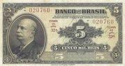 5 Mil Réis (4th Banco do Brasil; 1st print) -  obverse