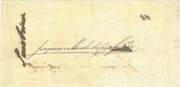 20 Mil Réis (Thesouro Nacional; Copper exchange note) -  reverse