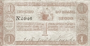 1 Mil Réis (Thesouro Nacional; 2nd print) -  obverse