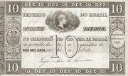 10 Mil Réis (Thesouro Nacional; 1st print) -  obverse
