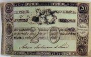 20 Mil Réis (Thesouro Nacional; 1st print) -  obverse