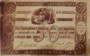 50 Mil Réis (Thesouro Nacional; 1st print) -  obverse